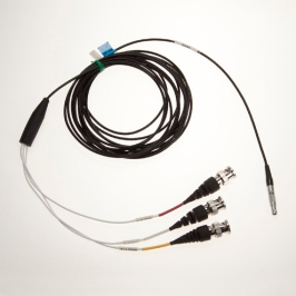 Nor4561 1,5 and 5 m cable 4p Lemo 00 male to 3 x BNC